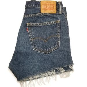 LEVI'S 505 High Waist Cut Off Shorts
